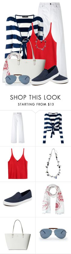 """Sail Away With Me"" by brendariley-1 ❤ liked on Polyvore featuring Vince, Dolce&Gabbana, New Directions, Sperry, Kate Spade, Ralph Lauren and Nautical"