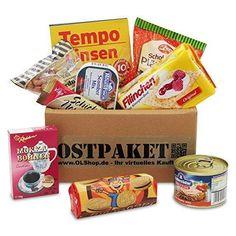 """Das Ostpaket """"Delikate Leckerei"""" als eine praktische und universale Geschenkidee für jeden Anlass. Dieses tolle Geschenk voller Ostprodukte lässt unter Garantie Erinnerungen an die gute, alte DDR-Zeit wach werden!"""