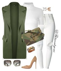 """""""Bad Gal"""" by fashionkill21 ❤ liked on Polyvore featuring (+) PEOPLE, Glamorous, WearAll, Yves Saint Laurent, Christian Louboutin, Miu Miu, Allurez, women's clothing, women and female"""