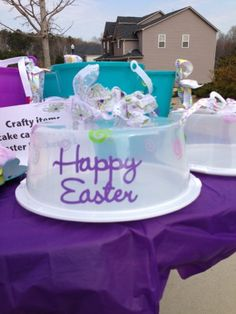Clippings by Sharondalyn: Happy Easter Cake Carriers and Buckets