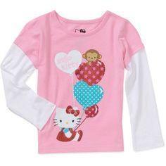 Hello Kitty Baby Girls' Hangdown Balloon Graphic Tee