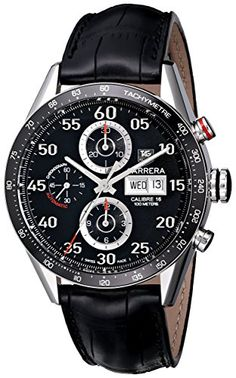 TAG Heuer Mens CV2A10.FC6235 Carrera Automatic Chronograph Day-Date Watch