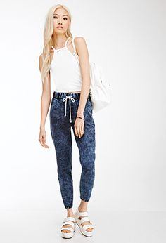 Mineral Wash Joggers | FOREVER21 - 2000136465