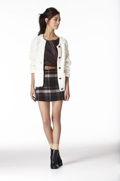 Key trend at Oasis for Autumn Winter 2012: Modern Brit: It's your very own lady of the manor moment as heritage-inspired checks and tweeds start to feel very 'now' teamed with quirky prints and sumptuous shades.
