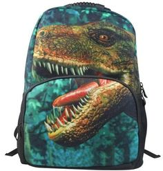 Animal FaceTM 3D Animals Dinosaur Backpack Deep 3D Stereography Felt Fabric