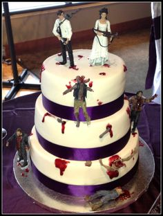 Who could say no to a zombie wedding cake?