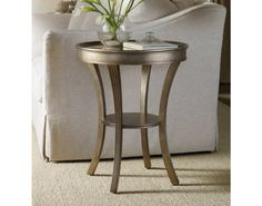 Sanctuary Round Mirrored Accent Table - Visage   Hooker Furniture   Star Furniture   Hooker Furniture – Sam Moore – Bradington Young – Seven Seas