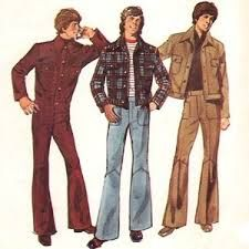 The brought us the leisure suit.men wore this look a lot. Disco Fashion, 60s And 70s Fashion, Retro Fashion, Trendy Fashion, Vintage Fashion, 1960 Mens Fashion, British Fashion, Fashion Days, Fashion Women