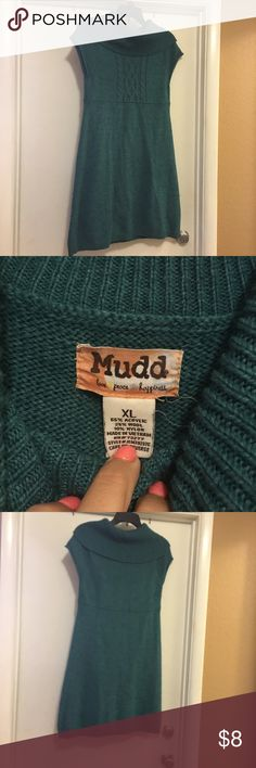 Mudd sweater dress Teal mudd sweater dress. In good condition. Super cute with leggings and boots. Mudd Sweaters Cowl & Turtlenecks