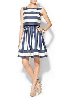 ac4ab57fdebc Megan Dougherty · Business Casual · Pim + Larkin Striped Double Layer Mini  Dress