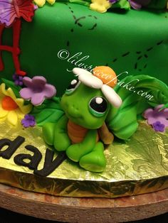 Cute little frog #cake #topper