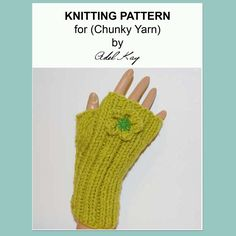 Sibeal Hand Warmers Fingerless Gloves Knitting Pattern