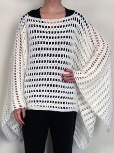 Crochet Spot » Blog Archive » Crochet Pattern: Striped Poncho - Crochet Patterns, Tutorials and News