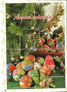 Bolas de natal - Árvore colorida