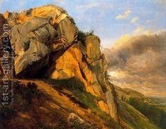 rocks in landscape paintings - Google Search