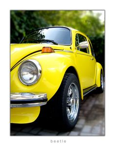VW Yellow Super Beetle