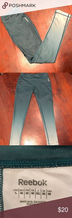 Reebok Workout Leggings NWOT! Love these green ombré leggings!!💚 Reebok Pants Leggings