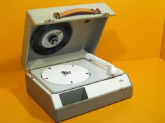 1950s Dieter Rams-designed Braun PC 3 record player on eBay