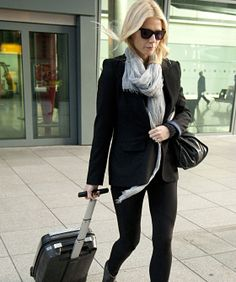 8 Celebs With Fly Airport Style - scarves available online at www.lepetitshopnyc.com