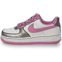 low priced 5e2cf 752c0 Nike Air Force 1  07 Womens 315115-161 Cool Rose Aubergine Low Shoes Size 11