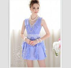 Elegant Charming V-Collar Pure Color Dress Purple SY12080502http://www.clothing-dropship.com