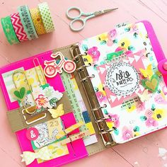 theplannersociety: Getting out my personal filofax pink fluro today. #creativeplanner