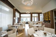 Luce Restaurant, just in front of Lugano Lake. Switzerland #interior #decor