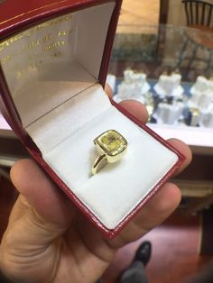 Photo of Ritz Jewelers - Los Angeles, CA, United States. Custom Yellow Diamond Ring