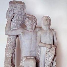 Arturo Martini Dedalus and Icarus 1937 Private Collection  Dedalo e Icaro (da Ovidio a Matisse): http://ift.tt/2CaCQ5O  #art #arthistory #icarus #yearend #painting