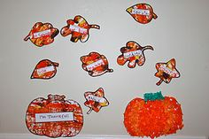 """""""Leaves of Thankfulness"""", tissue paper pumpkins and more!"""