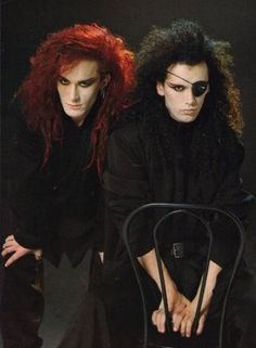 """romantic-dystopia:  """" Steve Coy and Pete Burns / Dead or Alive  未だに好きなんだよね・・・(遠い目)  """""""