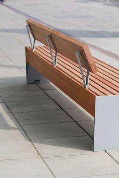 BLOCQ Bench with back by mmcité 1 design David Karásek, Radek Hegmon