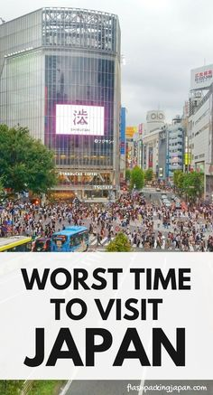 Worst time to visit Japan - when is the best time to go to Japan in 2019 or tokyo. Best things to do. Best places to visit. Outdoor travel destinations, backpacking Japan travel tips on a budget, trip planning, where to go on vacat Japan Travel Guide, Tokyo Travel, Asia Travel, Time Travel, Travel Vlog, Thailand Travel, Go To Japan, Visit Japan, Japan Time