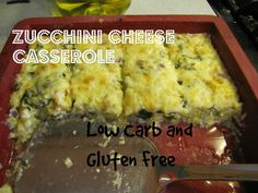 Zucchini Cheese Casserole , Low Carb and Gluten Free Recipe with zucchini, olive oil, onions, garlic, mozzarella cheese, eggs, sour cream, basil, parmesan cheese