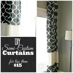 I recently stumbled across some fabulous curtain panels at Walmart. The pattern was awesome and the colors were pretty great too! They were...