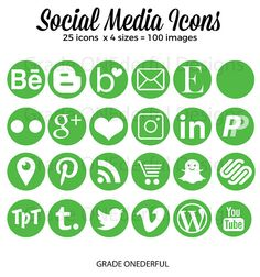 Can i guess your favorite social media platform odyssey online green social media icons social media buttons green blog icons 100 green icons business card icons portfolio icons blog graphics colourmoves