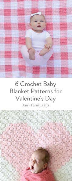 6 Crochet Baby Blanket Patterns for Valentine's Day