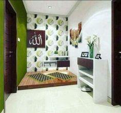 Design Inspirations for a Prayer Room at Home - CasaNesia Home Room Design, Room Interior Design, House Design, Islamic Decor, Islamic Art, Prayer Corner, Beautiful Home Designs, Prayer Room, Minimalist Home