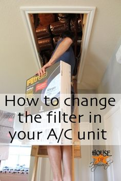 How to change the filter in your A/C unit.  Do you even know you have a filter inside your unit?  That pesky thing called maintenance {air conditioner filters} @ HouseofHepworths.com #filters #DIY