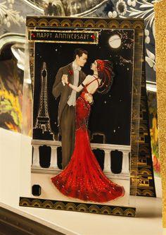 Art Deco Anniversary Card - Papermania  Art Deco http://www.macrafts.com/store/product/14027/A4-Decoupage-Card-Kit-Art-De/
