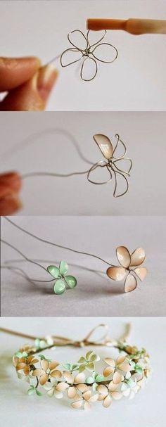 オシャレな花冠のできあがり。光沢のあるカラーを選んでみると良いかも!