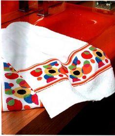 Ricami e schemi a Punto Croce gratuiti: Cross stich free- schemi per ricamare salviette e asciugamani a punto croce