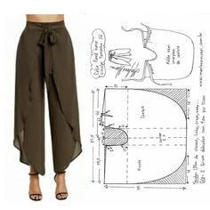 """Irina on Instagram: """"Pattern of Palazzo trousers✂️🧵✂️ (all sizes) 🔥🌹🔥 In the drawings, the sizes are indicated in euros, translated into Russian +6 # sewing # patterns # modeling ..."""", Irina on Instagram: """"Pattern of Palazzo trousers✂️🧵✂️ (all sizes) 🔥🌹🔥 In the drawings, the sizes are indicated in euros, translated into Russian +6 # ...,  #calças #drawings #euros Sewing Clothes Women, Sewing Pants, Diy Clothes, Dress Sewing Patterns, Clothing Patterns, Diy Vetement, Palazzo Trousers, Clothing Hacks, Rock Clothing"""