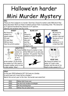 A more challenging start to this one. I used it with no calculators. Diy Halloween Spell Book, Halloween Spells, Halloween Science, Halloween Stuff, Halloween Party, Forensic Science, Reading Passages, Teaching Strategies, Autumn Activities