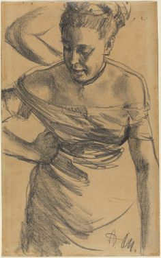 Menzel, Adolph German, 1815 - 1905 Study of a Woman