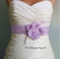 ASHLEY Lilac Bridal Sash