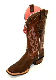Ariat Western Boots Womens Cowboy Rawhide 7.5 B Sassy Brown ...