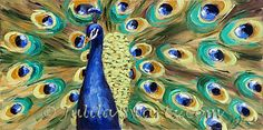 Julia Swartz Fine Art Gallery: Peacock II - Peacock Oil Painting