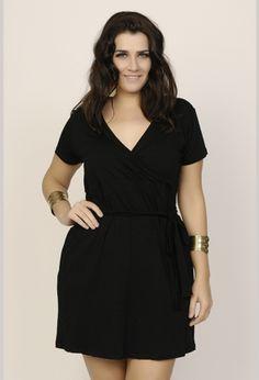 Vestido Plus Size Transpassado - R$130 - Xica Vaidosa