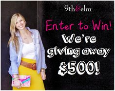 $500 Giveaway Celebration – Happy Birthday 9th and Elm!